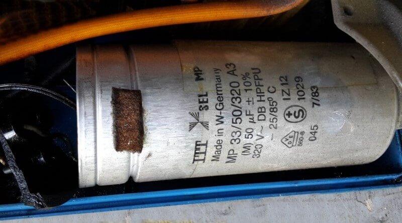 ITT SEL MP 33-Kondensatoren ersetzen
