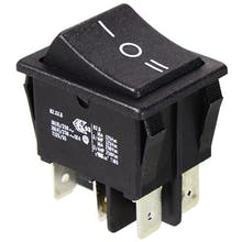 635  - Rocker switch, Changeover switch, latching, 2-pole (replacement for Kedu HY12)