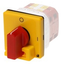 85001020  - Cover for cam switch, yellow, lockable