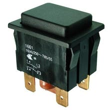 618  - Push-button switch, Off-switch, 2-pole - Marquardt 1661.0201