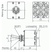 kippschalter nikkai s 831 dreipoliger ausschalter. Black Bedroom Furniture Sets. Home Design Ideas