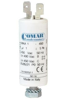 010450MKP/FL  - Operating capacitor 1 µF / 450 V with flat plug