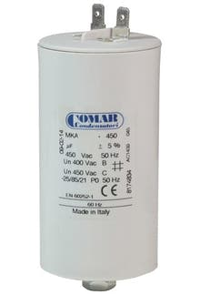 500450MKP/FL  - Operating capacitor 50 µF / 450 V with flat plug