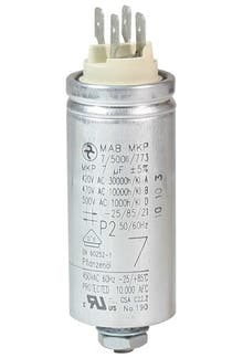 070400MBA/FL  - Operating capacitor 7 µF / 450 V, aluminium can, Flat plug