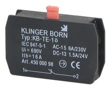 4500.0098  - N/C contacts module for emergency shut-off-push button Klinger&Born 4500.0120
