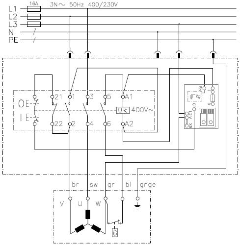 motorschalter mit bremse klinger born k900 b taz st3 ka3. Black Bedroom Furniture Sets. Home Design Ideas