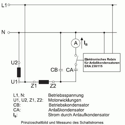 Elektronisches Anlaufrelais ERA für Anlaufkondensatoren