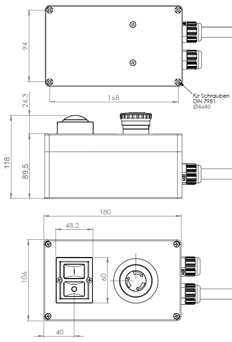 Drehstrom-Motorschalter Klinger&Born K3000/3Ph-400/Not-Aus/P