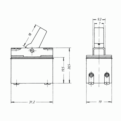 kippschalter marquardt zweipoliger ausschalter. Black Bedroom Furniture Sets. Home Design Ideas