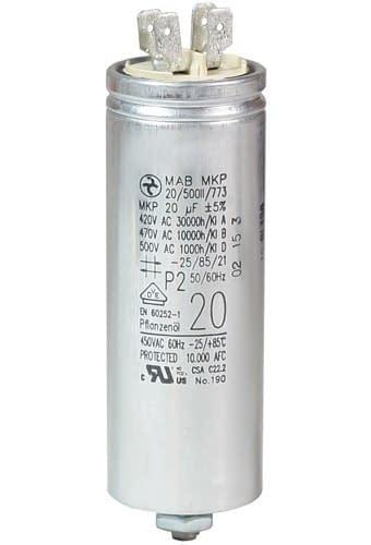 Operating Capacitor 20 181 F 450 V Aluminium Can Flat Plug