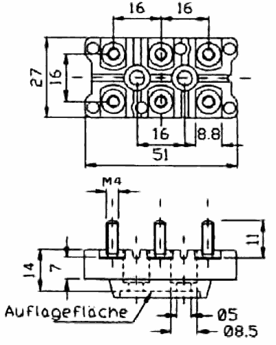 motor terminal board kl 196  6