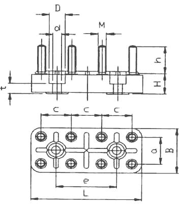 motor terminal board kl50  8