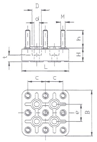 motor terminal board kl60  1  9