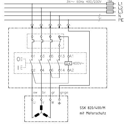 Schalter-Stecker-Kombination K900/ST9 mit Motorschutz 7 A