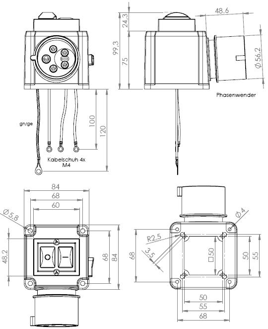Motorschalter Klinger&Born K900/TAZ/ST3/Mot/Phw/P/Therm