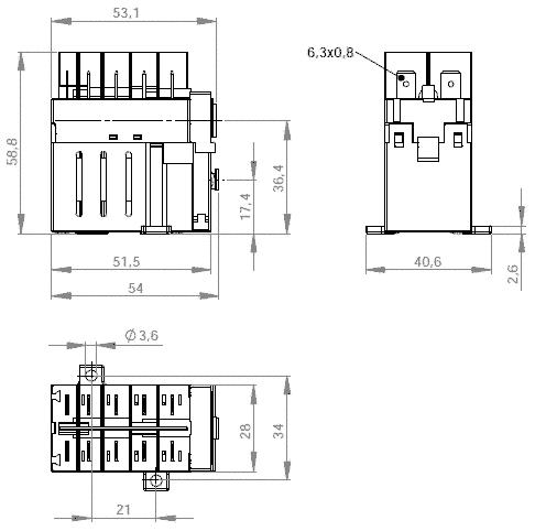 Schütz Klinger & Born KB-04, Uc=230 V, 3 Schließer, 1 Öffner, Mod.Nr ...