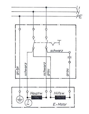 schalter stecker kombination 230v mit kondensatorrohr. Black Bedroom Furniture Sets. Home Design Ideas