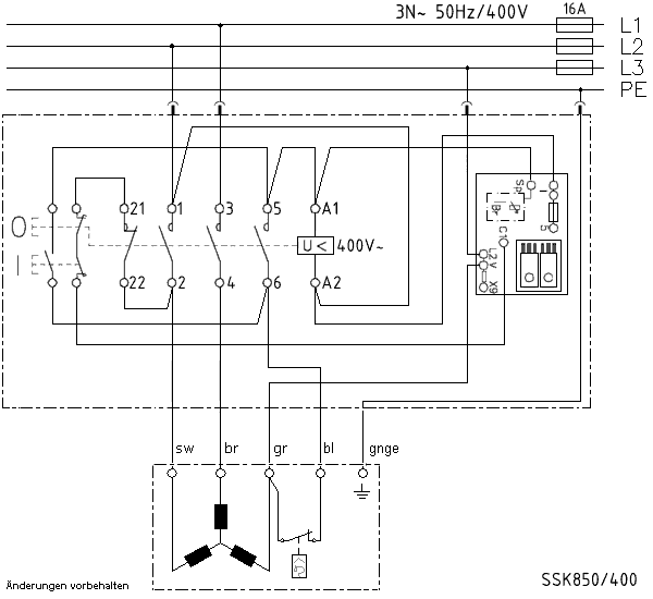 Klinger&Born Kreissägenschalter K900/VB/ST12, Kedu KOA12 Ersatz