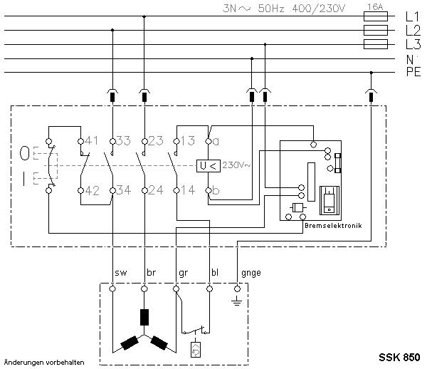 Motorschalter, Schalter-Stecker-Kombination für Kreissäge, Bremse